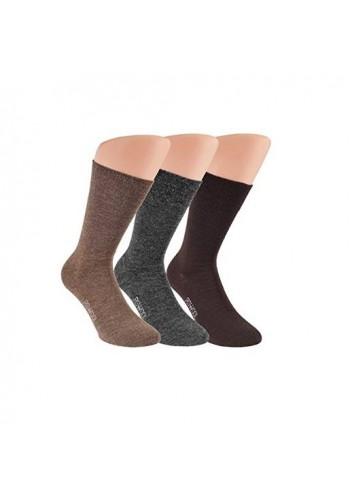 """33347- Pánske vlnené zdravotné ponožky """"NATUR"""" - 3 páry/bal."""