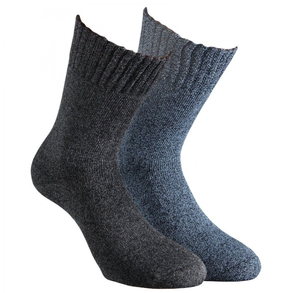 "33350- Pánske froté zdravotné ponožky ""EXTRA SOFT"" - 2 páry/bal."
