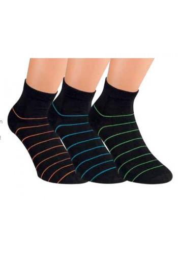 """35171- Pánske bavlnené kotníkové ponožky """"STREIFEN"""" - 3 páry/bal."""