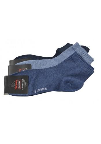 """35199- Pánske bavlnené kotníkové ponožky """"JEANS"""" - 3 páry/bal."""