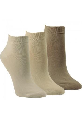 "35200- Pánske bavlnené kotníkové ponožky ""NATUR"" - 3 páry/bal."