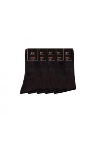 """39015- Pánske bavlnené tenisové ponožky """"UNI SCHWARZ"""" - 5 párov/bal."""