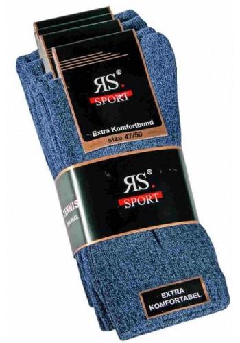 """39023- Pánske bavlnené tenisové ponožky """"JEANS"""" - 4 páry/bal."""