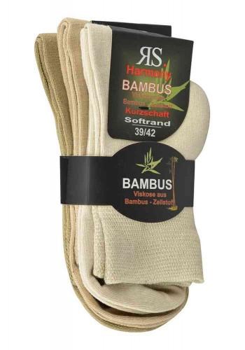 "43010-Bambusové skrátené ponožky Sorbtek ""BAMBUS"" - 3  páry/bal."