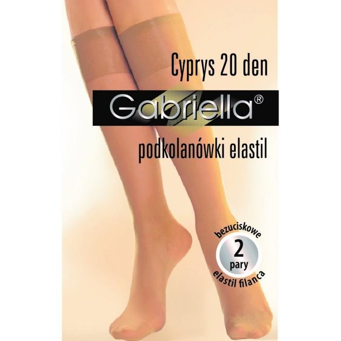 Cyprys-podkolienky elastil 20 den, 2páry/bal.