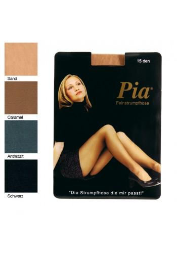 10204- PIA dámske silónové pančuchové nohavice zo saténového vlákna, 15 DEN - 1 balenie